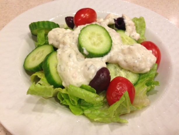 how to make greek dressing creamy