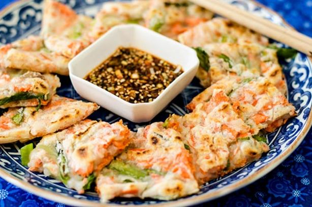 Gluten-Free Korean Salmon And Scallion Pancake Pajeon) Recipe - Food ...
