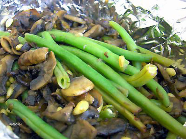 ... roasted green beans with buttery french green beans green beans