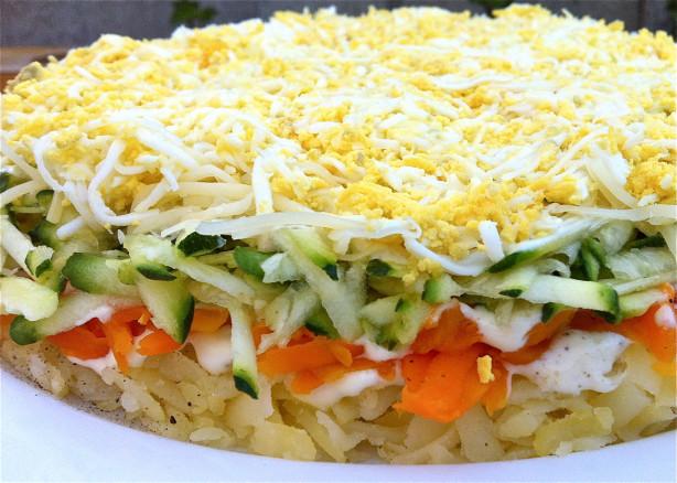 Layered Vegetable Cake Recipe