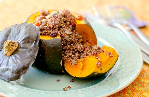 Quinoa Stuffed Kabocha Squash Recipe - Food.com