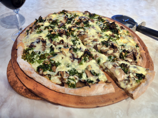 ... garlic dressing portabella kale pizza with portabella kale pizza with