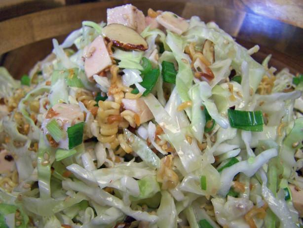 Oriental Chicken Salad With Crunchy Ramen Noodles Recipe - Chinese ...