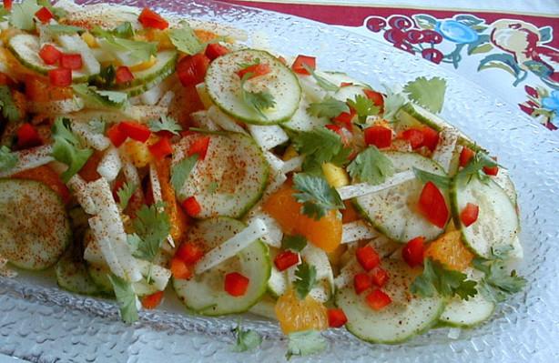 Jicama With Orange, Cucumber, Mango, Red Chile And Lime Recipe - Food ...