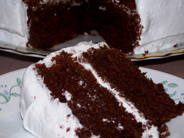Devil S Food Cake Melted Chocolate
