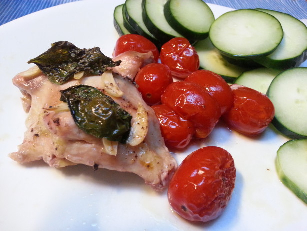 Baked Chicken With Tomatoes, Garlic And Basil Recipe - Food.com
