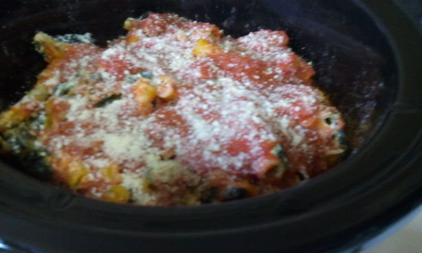 Crock Pot Ziti With Spinach, Ricotta, And Tomato Sauce Recipe - Food ...
