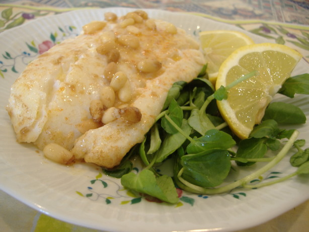 Cod Fish With Pine Nut Brown Butter Recipe - Food.com