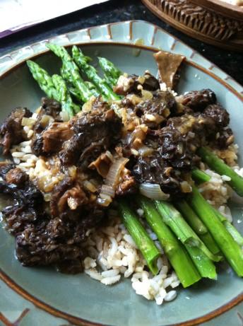 Asparagus with mushrooms recipe for Morel mushroom recipes food network