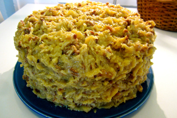 German Chocolate Cake With Coconut Pecan Frosting Recipe - Food.com
