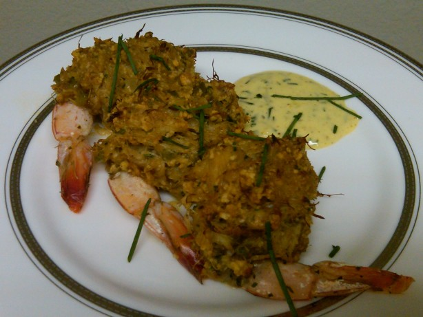 Mid-Atlantic Seafood Stuffing (Dressing) - Goodie ...  Fried Shrimp Stuffed With Crab Dressing