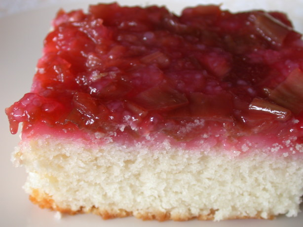 Rhubarb Upside Down Cake Recipe With Cake Mix