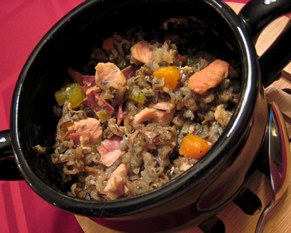 Low Fat Crock Pot Herbed Turkey And Wild Rice Casserole