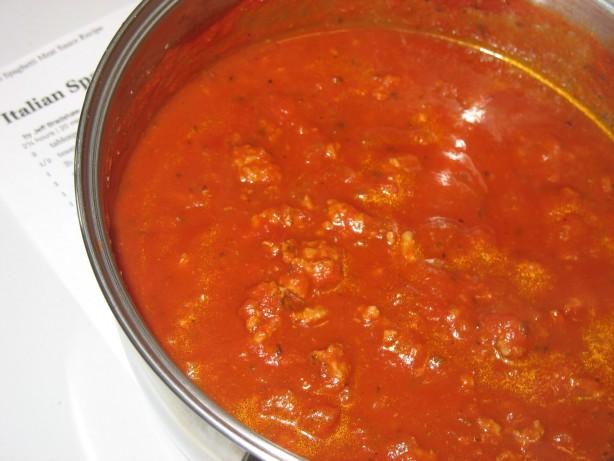 Italian Spaghetti Meat Sauce Recipe - Food.com
