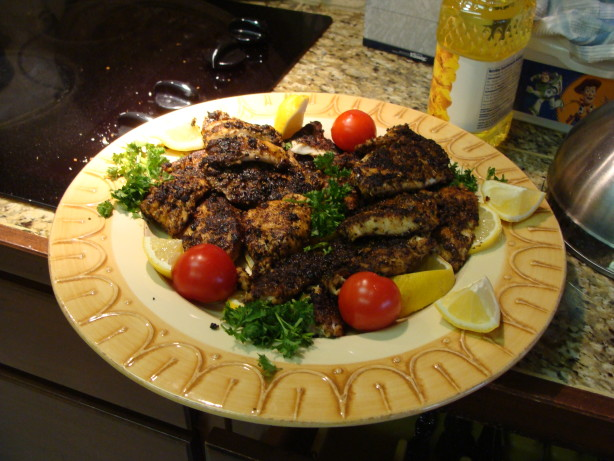 Blackened redfish recipe for Red fish recipe