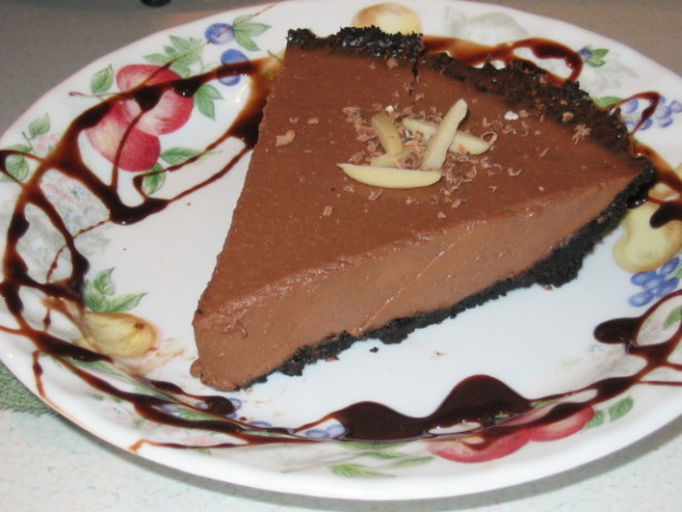 No Bake Chocolate Two Cheese Pie Recipe Food Com