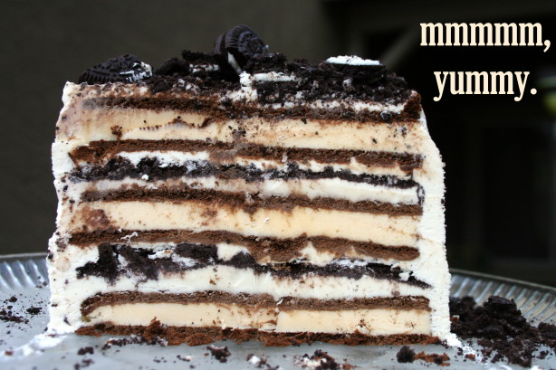 Our OREO and Ice Cream Sandwich Cake is sure to shine on any dessert table. * Nutrition information is estimated based on the ingredients and cooking instructions as described in each recipe and is intended to be used for informational purposes only. Please note that nutrition details may vary based on methods of preparation, origin and.