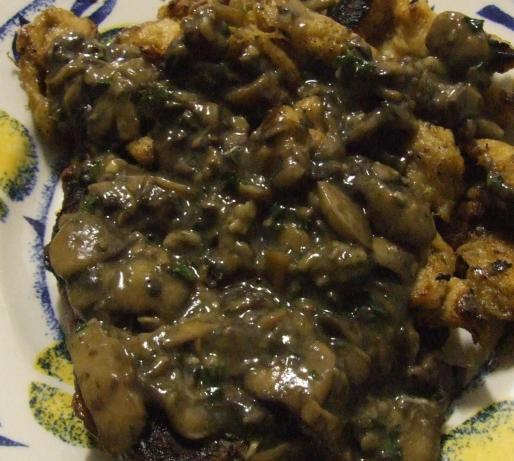 Champagne Mushroom Sauce Recipe — Dishmaps