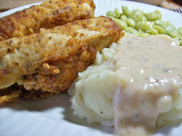 Southern Fried Chicken With Milk Gravy Recipe - Southern.Food.com