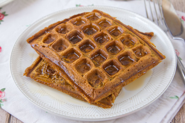 Spiced Pumpkin Waffles Recipe - Food.com