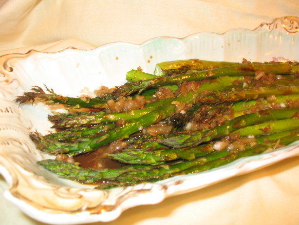 Roasted Asparagus With Balsamic-Shallot Butter Recipe - Food.com