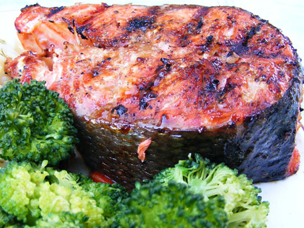 Easy Glazed Grilled Salmon Recipe - Food.com