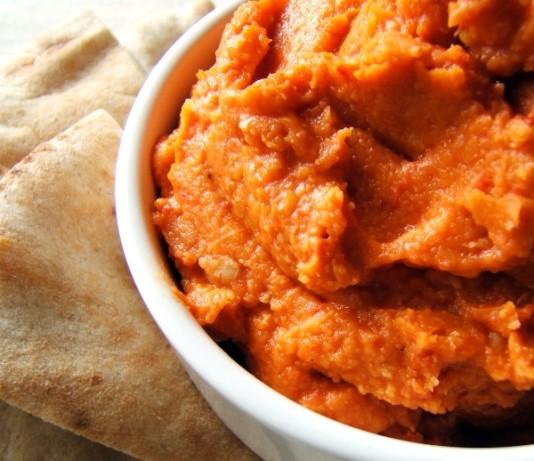 Low fat red pepper hummus recipe for Recipe red pepper hummus
