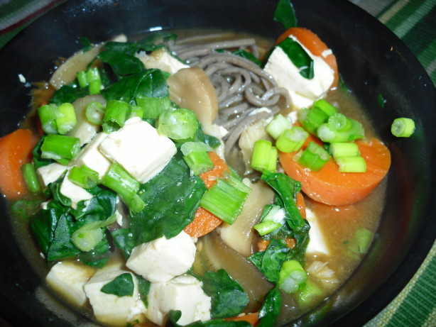 Soba Soup With Spinach And Tofu Recipe - Food.com
