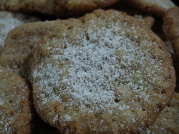 Thin And Crisp Powdered Oatmeal Cookies Recipe - Food.com