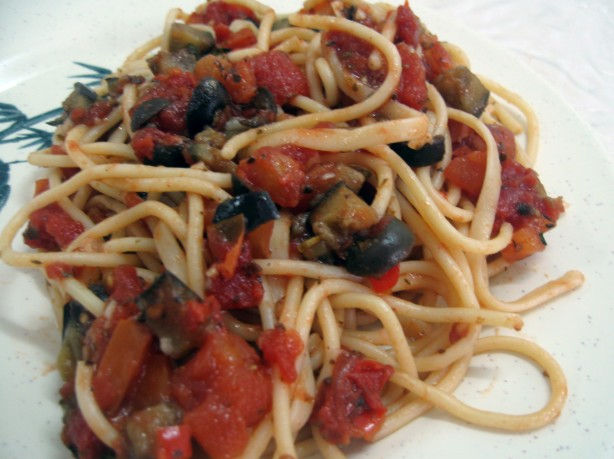 tomatoes recipes dishmaps pasta with eggplant portobella and tomatoes ...
