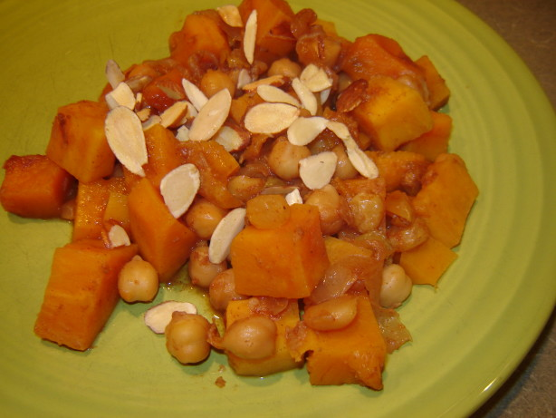 Spiced Chickpea Smothered Sweet Potato Recipe — Dishmaps