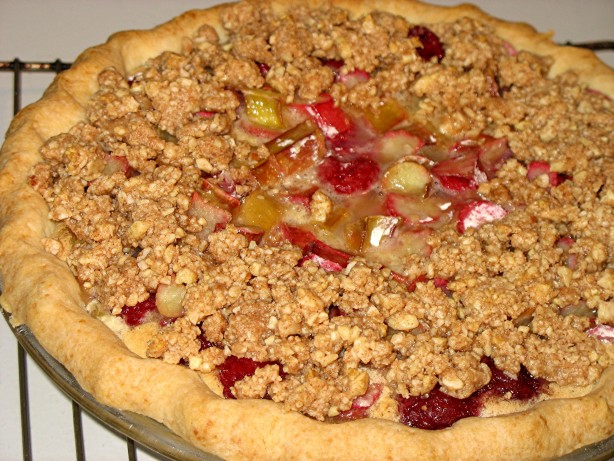 Rhubarb Raspberry Custard Pie Recipe - Baking.Food.com