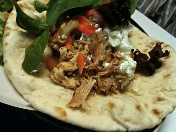 Greek Chicken Pita Pockets - Crock Pot! Recipe - Food.com