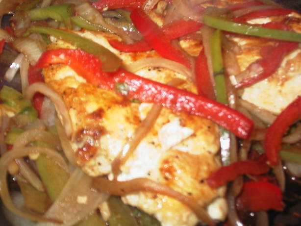 Balsamic Chicken Breasts With Peppers And Onions Recipe ...