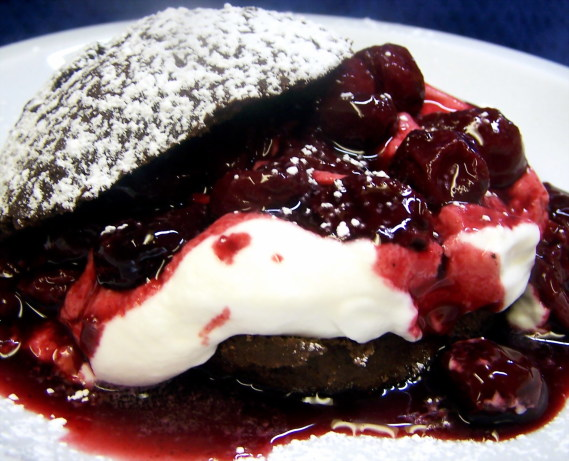 Chocolate Shortcakes With Sour Cherry Topping Recipe - Food.com