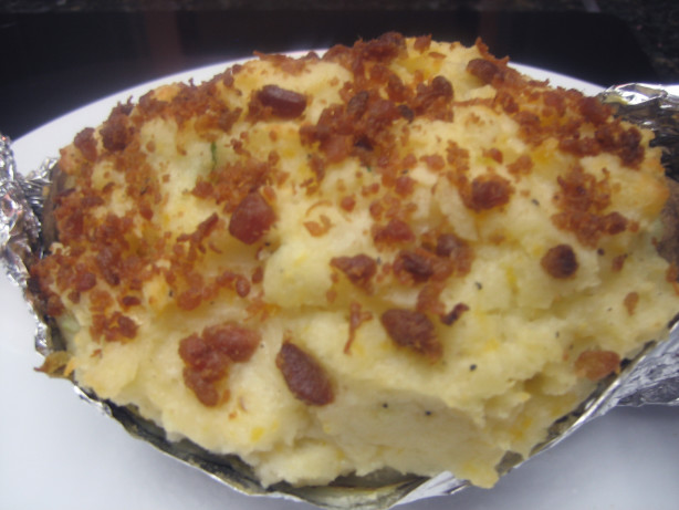 Bacon, Cheddar, Sour Cream And Chive, Twice Baked Potatoes Recipe ...
