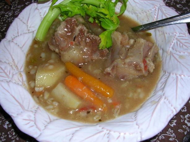 Slow Cooker Crock Pot Oxtail Barley Soup Recipe Food Com