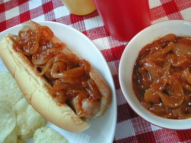 hot dog onion sauce recipe. Black Bedroom Furniture Sets. Home Design Ideas