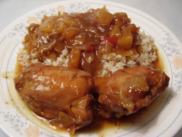 Crock pot chinese chicken with pineapple recipe chinese for Cooking chicken thighs in crock pot