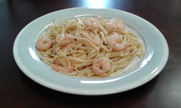 Shrimp Linguine In An Olive Oil Based Garlic Sauce Recipe