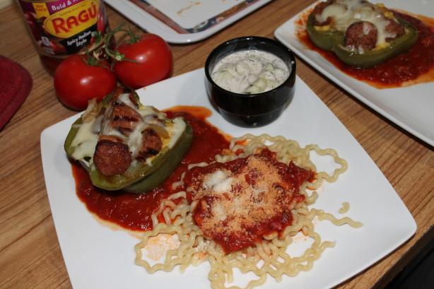 Polenta And Sausage Stuffed Pepper Gondolas #Ragu Recipe - Food.com