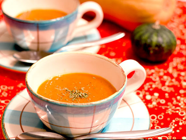 Roasted Red Pepper And Sweet Potato Soup Gluten-Free) Recipe - Food ...