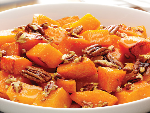 Roasted Butternut Squash With Pecan Ginger Glaze Recipe - Food.com
