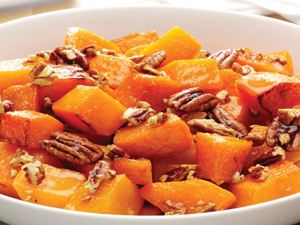 Roasted Butternut Squash With Pecan Ginger Glaze Recipe - Food.com
