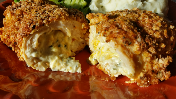Beaded Stuffed Buffalo Chicken Breast Recipe - Food.com