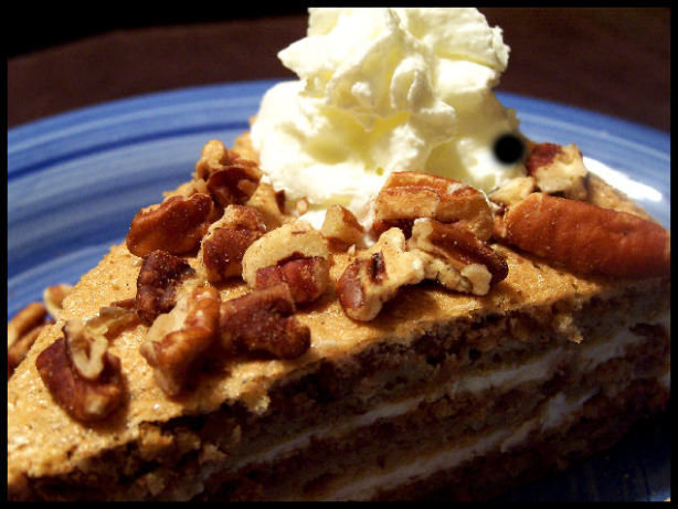 Austrian Walnut Torte With Coffee Whipped Cream Recipe - Food.com