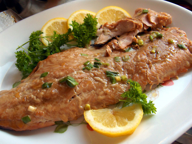 Honey ginger grilled salmon recipe for Salmon fish nutrition