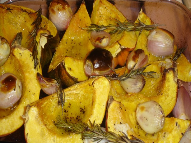 Roasted Acorn Squash With Shallots And Rosemary Recipe - Food.com