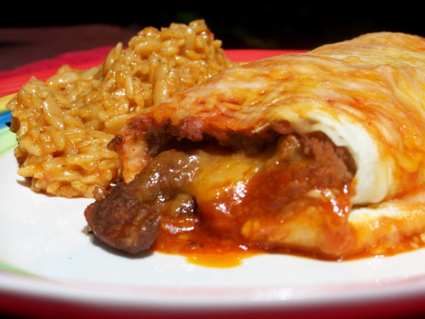 Baked Steak Burritos Recipe Food Com
