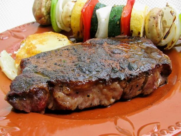 Pan Fried Rib Eye Steaks Recipe Food Com